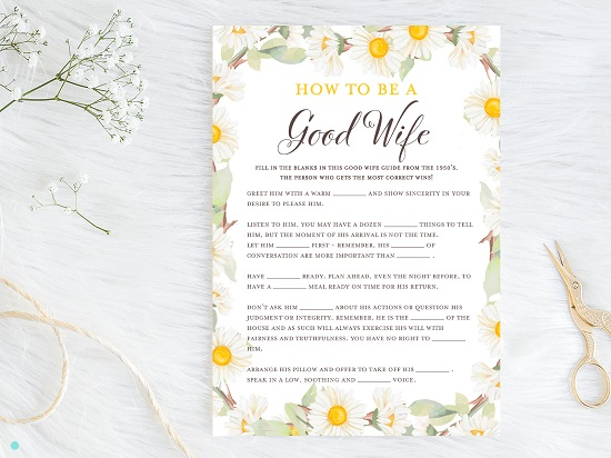 bs691-good-wife-guide-1950-spring-daisy-theme-bridal-shower