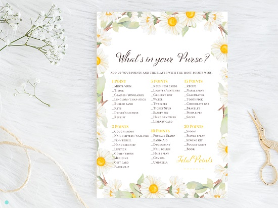 bs691-whats-in-your-purse-both-spring-daisy-theme-bridal-shower