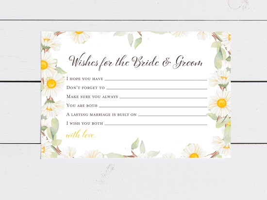 bs691-wishes-for-bride-groom-card-spring-daisy-theme-bridal-shower
