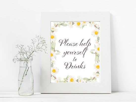 drinks-spring-daisy-themed-table-signs