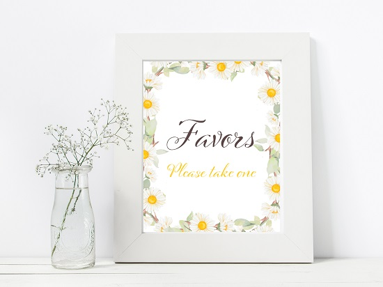 favors-spring-daisy-themed-table-signsavors-spring-daisy-themed-table-signs