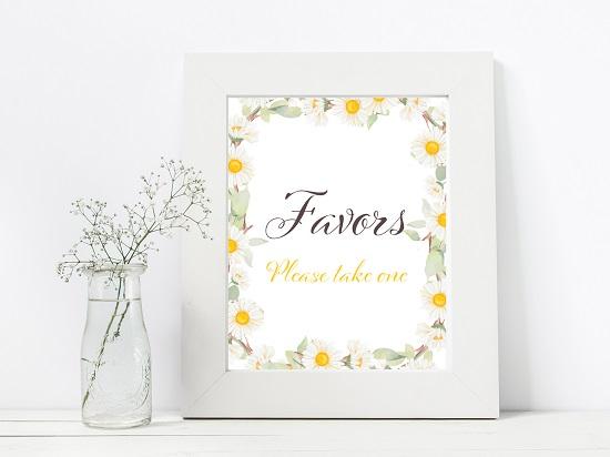 favors-spring-daisy-themed-table-signsavors-spring-daisy-themed-table-signs