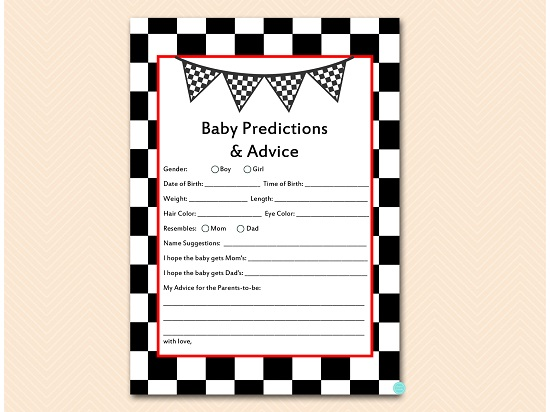 tlc113-prediction-and-advice-cards-checkered-racing-car-baby-shower-game