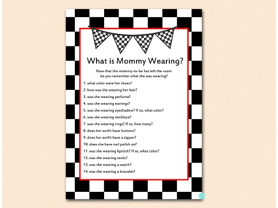 tlc113-what-is-mommy-wearing-checkered-racing-car-baby-shower-game