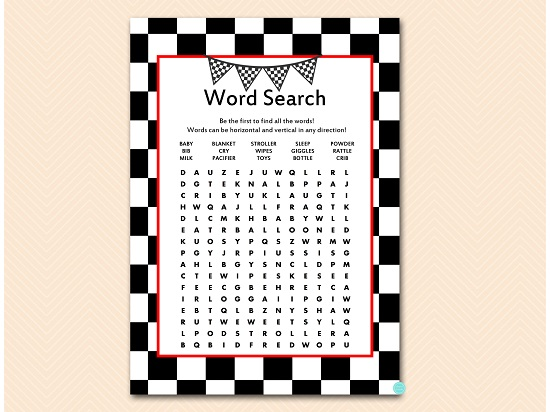 tlc113-word-search-checkered-racing-car-baby-shower-game