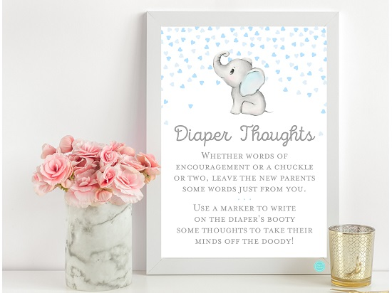 tlc689-diaper-thoughts-gray-blue-elephant-baby-shower