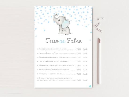 tlc689-true-false-gray-blue-elephant-baby-shower