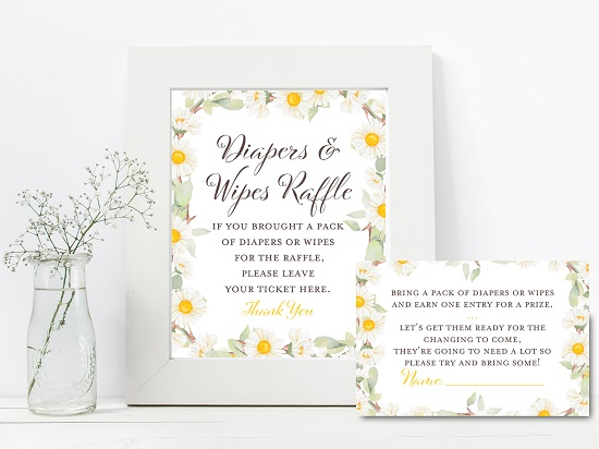 tlc691-diapers-wipes-raffle-sign-spring-daisy-themed-baby-shower