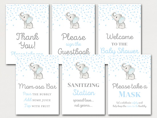 elephant-baby-shower-table-signs