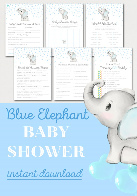 popular-blue-and-gray-elephant-baby-shower-game-theme
