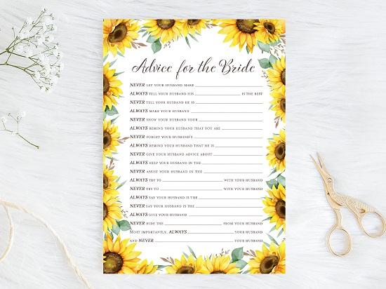 advice-for-bride-husband-advice-sunflower-theme