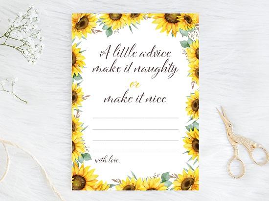 advice-nice-or-naughty-sunflower-theme