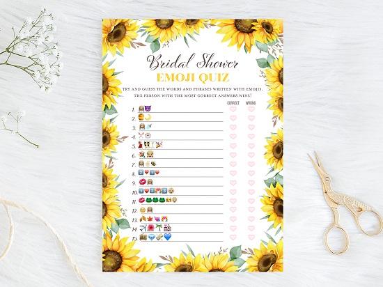 emoji-bridal-shower-sunflower-theme