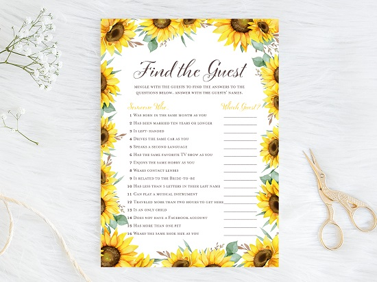 find-the-guest-sunflower-theme