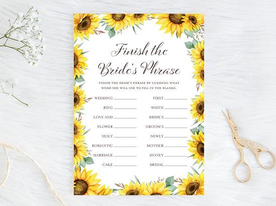 finish-bride-phrase-sunflower-theme-bridal-shower