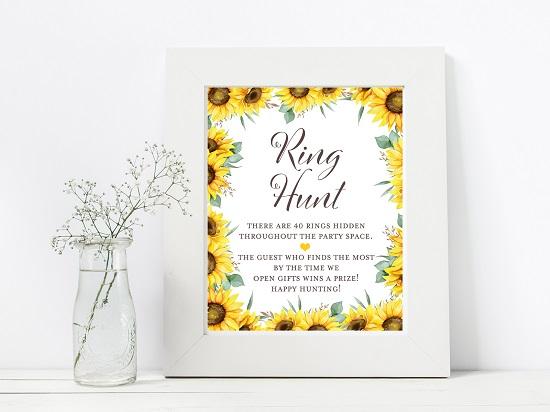 ring-hunt-sunflower-theme-bridal-shower