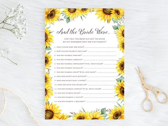 what-the-bride-wore-sunflower-theme-bridal-shower