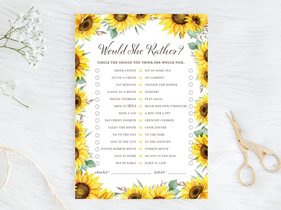 would-she-rather-both-sunflower-theme-bridal-shower