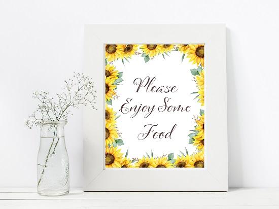 sn694-food-sunflower-theme-sign