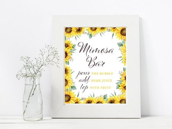 mimosa-bar-sunflower-theme-sign