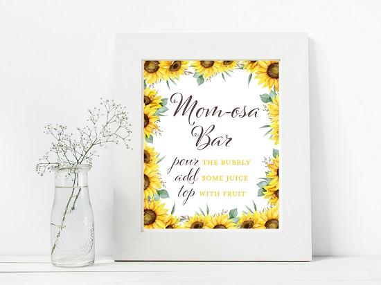 momosa-bar-sunflower-theme-sign