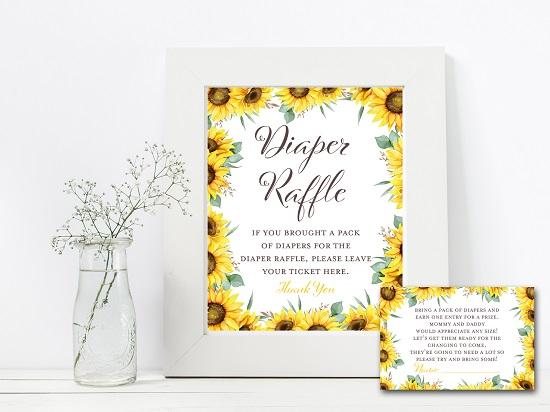 diaper-raffle-sunflower-theme-baby-shower