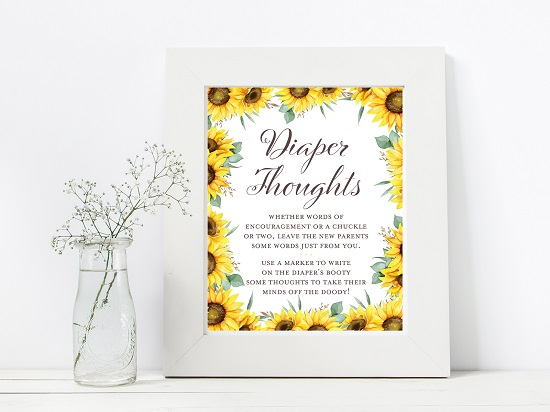 diaper-thoughts-sunflower-theme-baby-shower