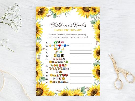 emoji-childrens-book-sunflower-theme-baby-shower