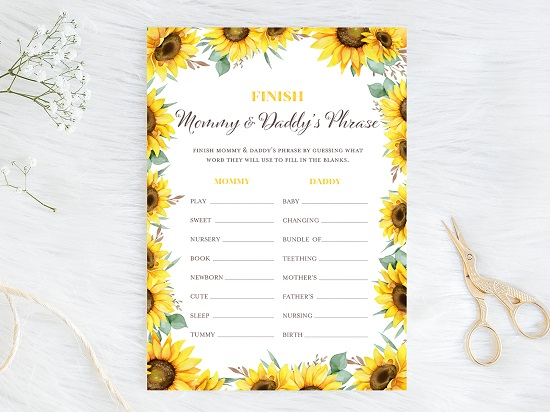 finish-mommy-daddy-phrase-sunflower-theme-baby-shower