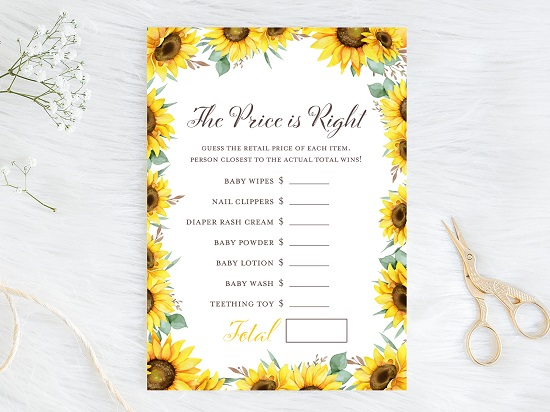 price-is-right-baby-sunflower-theme-baby-shower