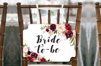 burgundy-boho-bridal-shower-chair-sign-for-bride