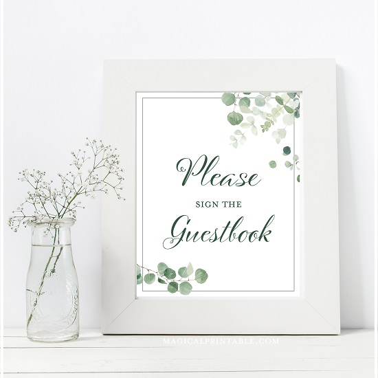 eucalyptus-greenery-baby-shower-table-signs-guestbook-8x10