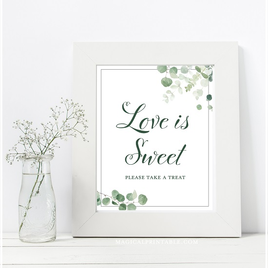 eucalyptus-greenery-baby-shower-table-signs-love-is-sweet-8x10