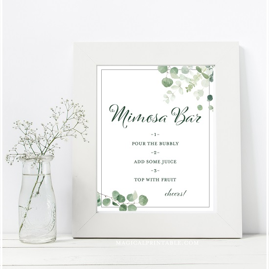 eucalyptus-greenery-baby-shower-table-signs-mimosa-barb-8x10