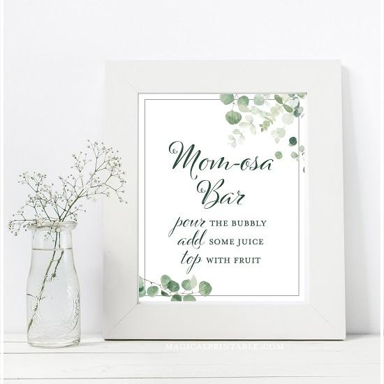 eucalyptus-greenery-baby-shower-table-signs-momosa-bar-8x10