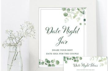 eucalyptus-greenery-date-night-idea-sign-and-card