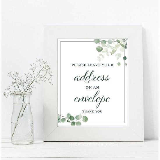 eucalyptus-greenery-wedding-table-signs-address-return-evelope-8x10