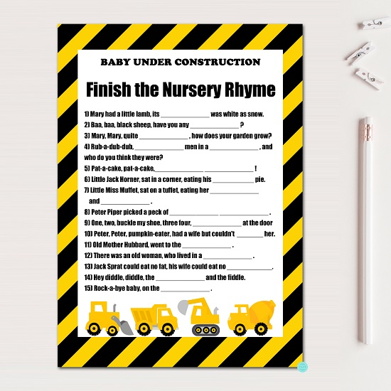 nursery-rhyme-quiz-construction-baby-shower-game
