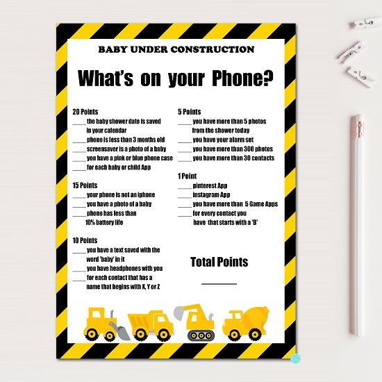 whats-on-your-phone-construction-baby-shower-game