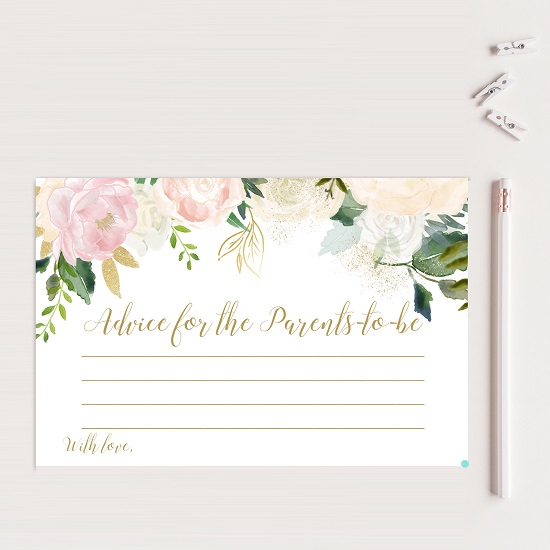 advice-parentspink-blush-baby-shower-game