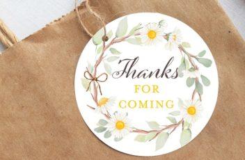 daisy thank you tags
