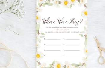 where-were-they-spring-daisy-theme-bridal-shower