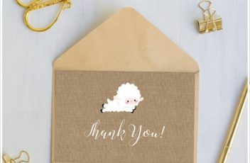 Lamb Baby Shower Thank You cards