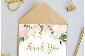 Pink Blush Thank You Cards