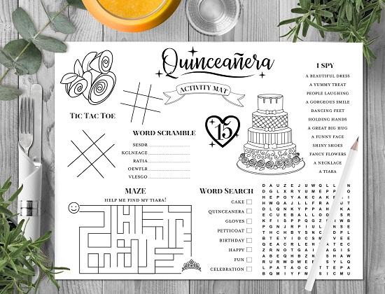 quinceanera-activity-mat-book
