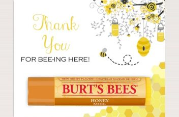 thank you for bee-ing here burts bees chapstick lipbalm tags