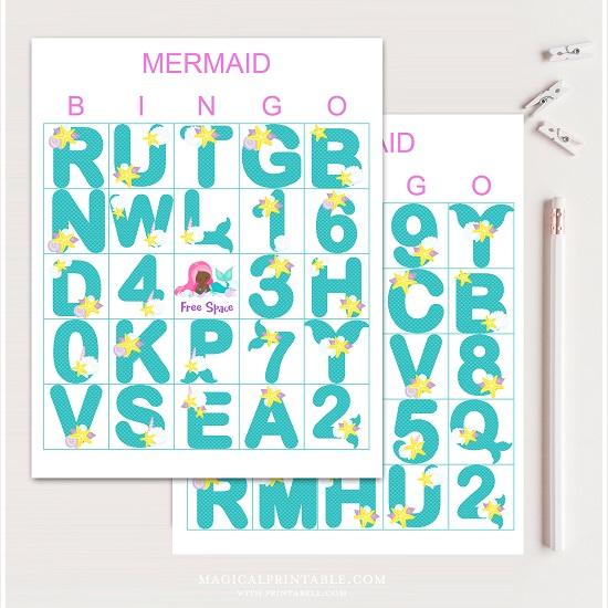 mermaid-bingo-cards-african-american-mermaid
