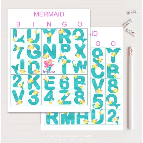 mermaid-bingo-cards