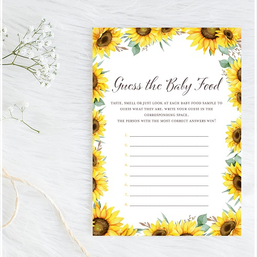 sunflower-guess-the-baby-food-game-card
