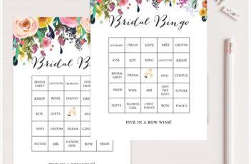 garden prefilled bridal shower bingo